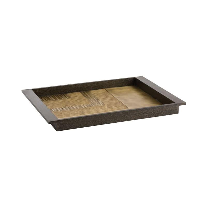 "Arteriors DJ2026 Hoffman 23"" Wide Wood Decorative Tray Cerused Oak Sale $528.00 ITEM#: 2967054 MODEL# :DJ2026 UPC#: 796505258175 :"