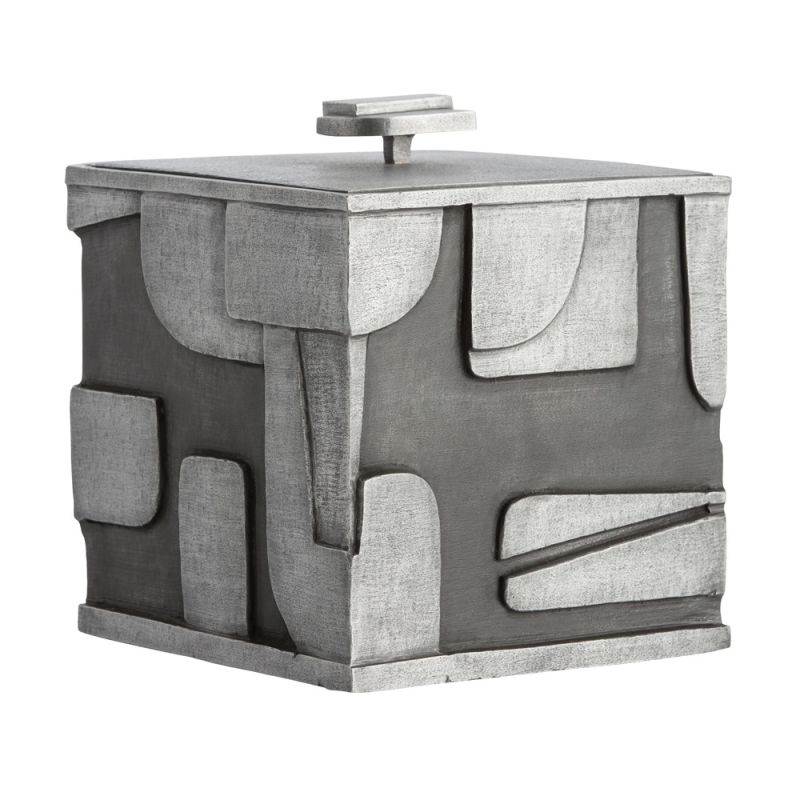 Arteriors DJ2040 Duchamp 9 Inch Tall Ice Bucket Antiqued Aluminum Home