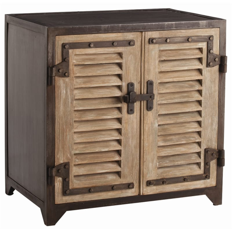 Arteriors DR2045 Lyon 30 Inch Tall Wood Cabinet Distressed Furniture
