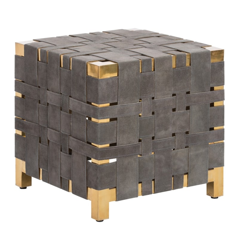 Arteriors DS2001 Elis 18.5 Inch Tall Stool Polished Brass Furniture
