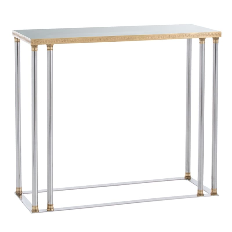 Arteriors DS2002 Pax 42 Inch Long Metal Top Steel Console Table