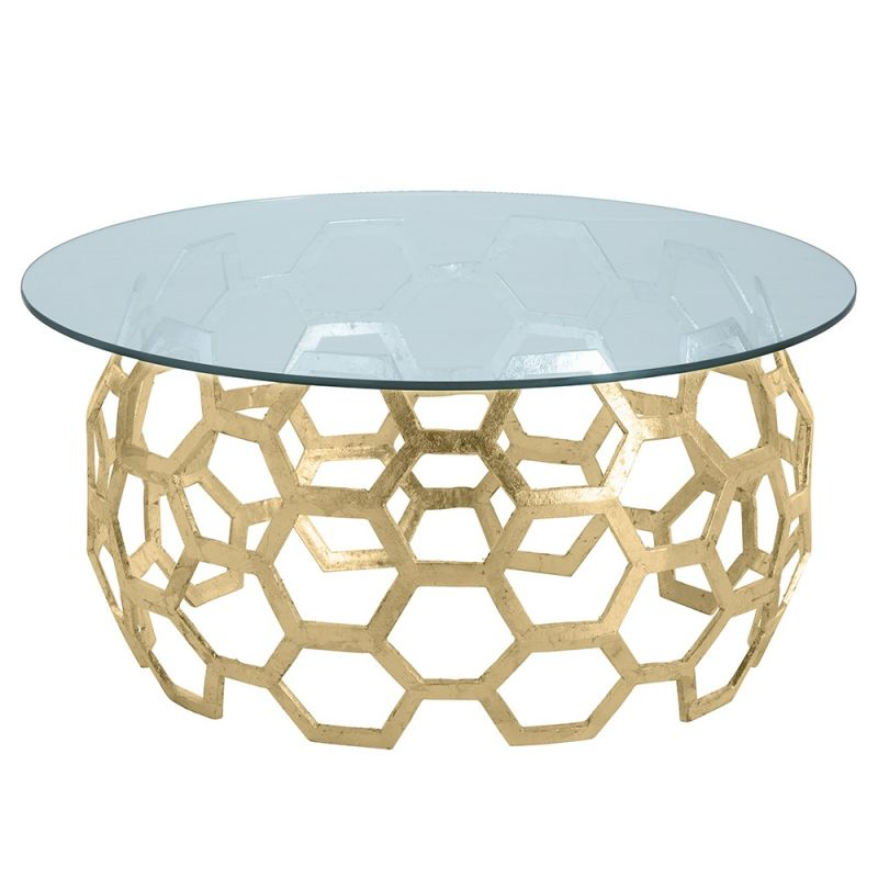 Arteriors DS2011 Dolma 48 Inch Diameter Glass Top Aluminum Table Base