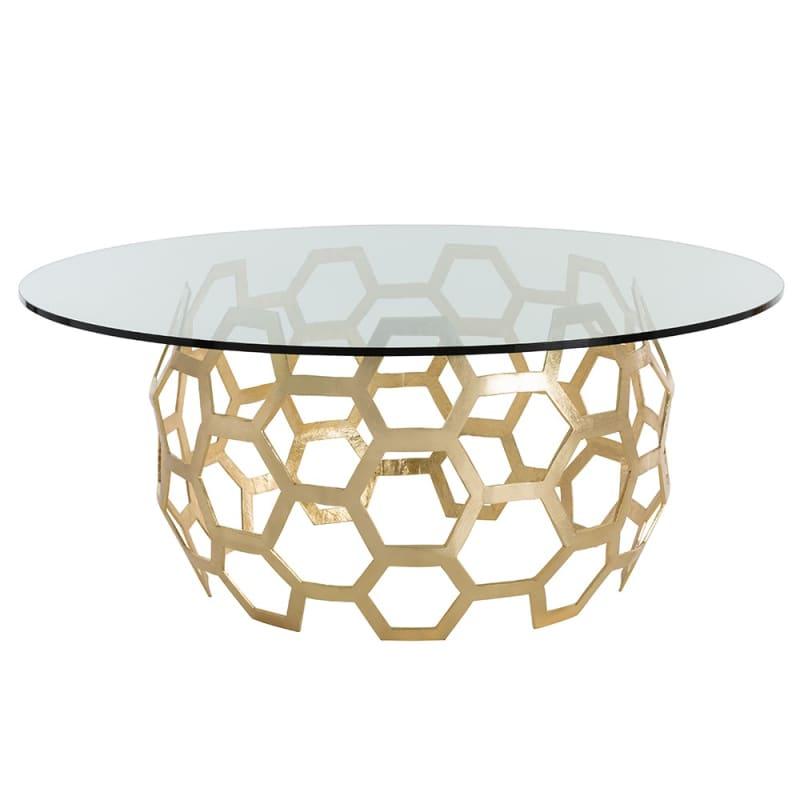 Arteriors DS2012 Dolma 72 Inch Diameter Glass Top Aluminum Table Base
