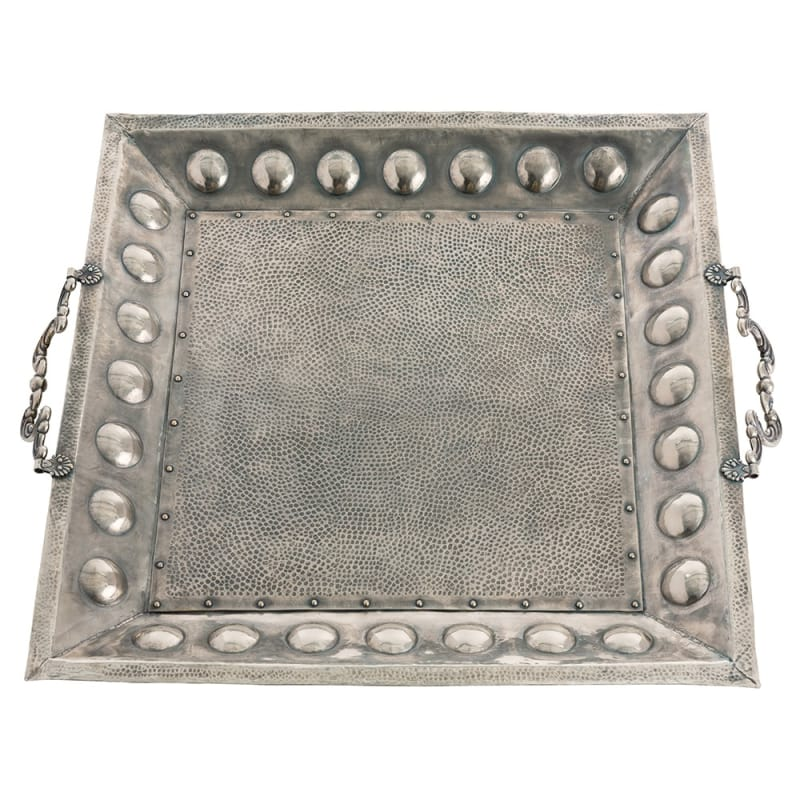 Arteriors DS2020 Antony 33.5 Inch Wide Brass Tray Antique Silver Home Sale $1920.00 ITEM#: 2991024 MODEL# :DS2020 UPC#: 796505279057 :