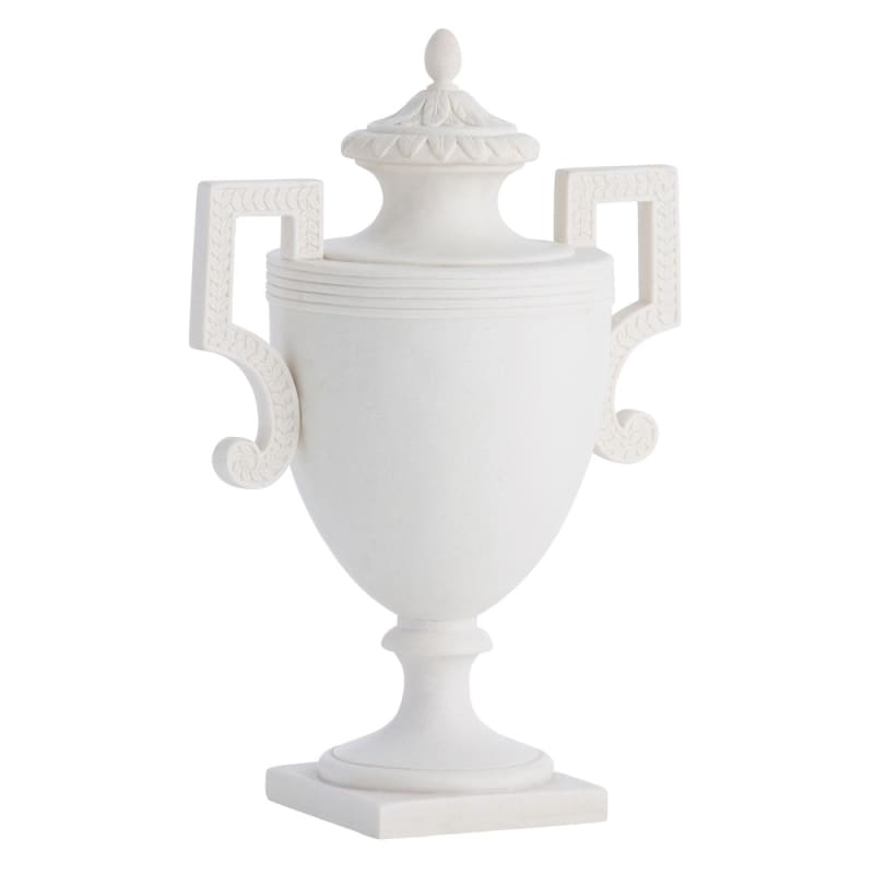 Arteriors DS9005 Larissa 15 Inch Tall Resin Urn Faux Marble Home Decor