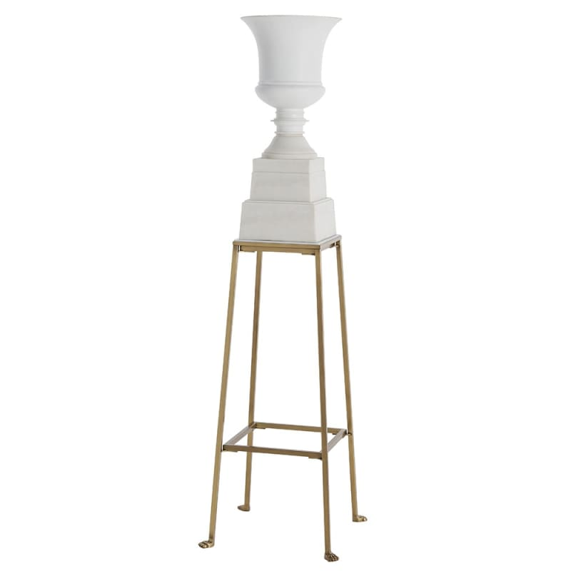 Arteriors DS9012 Pygmalion 42 Inch Tall Iron Stand Antique Brass Home