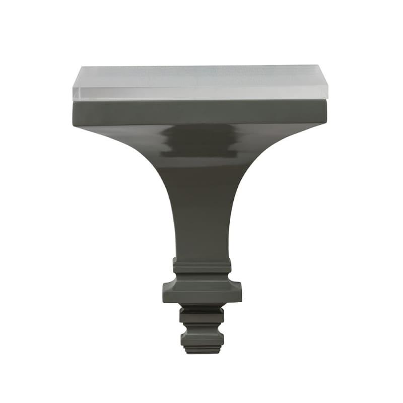 Arteriors DS9014 Vesta 15.5 Inch x 12.5 Inch Resin Wall Shelf Gray