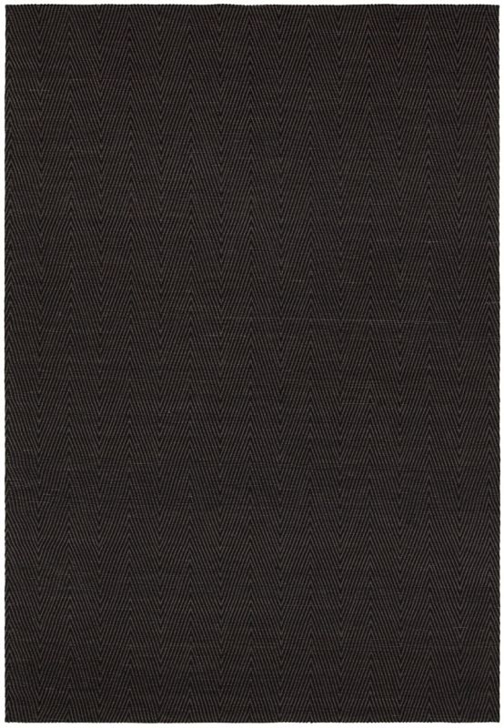 Chandra Rugs Ciara 27700 Brown and Black Cotton Blend Shag Area Rug