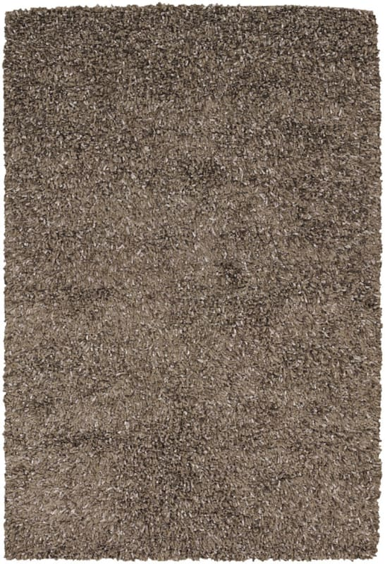 Chandra Rugs Etop 23002 Taupe and Beige Polyester Shag Area Rug Hand