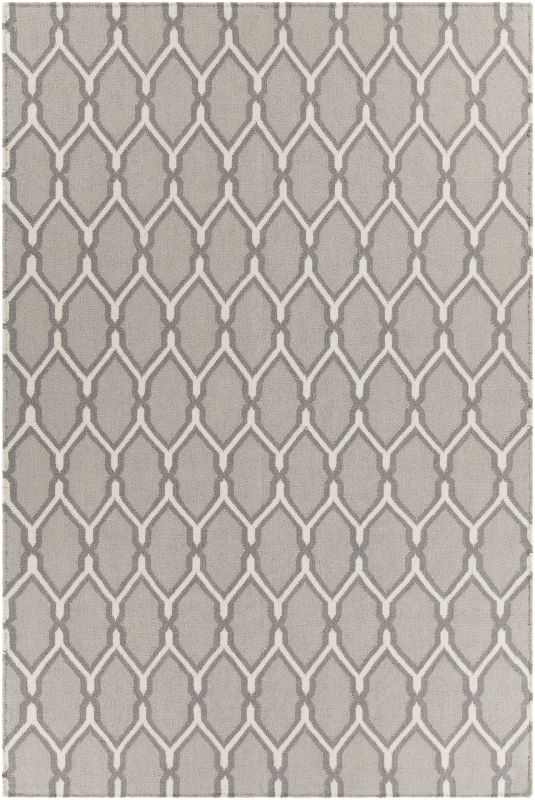 Chandra Rugs Lima 25742 Grey and White Wool Blend Shag Area Rug Flat