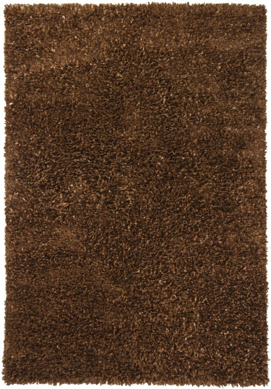 Chandra Rugs Ormet 19402 Brown Polyester Shag Area Rug Hand Woven in