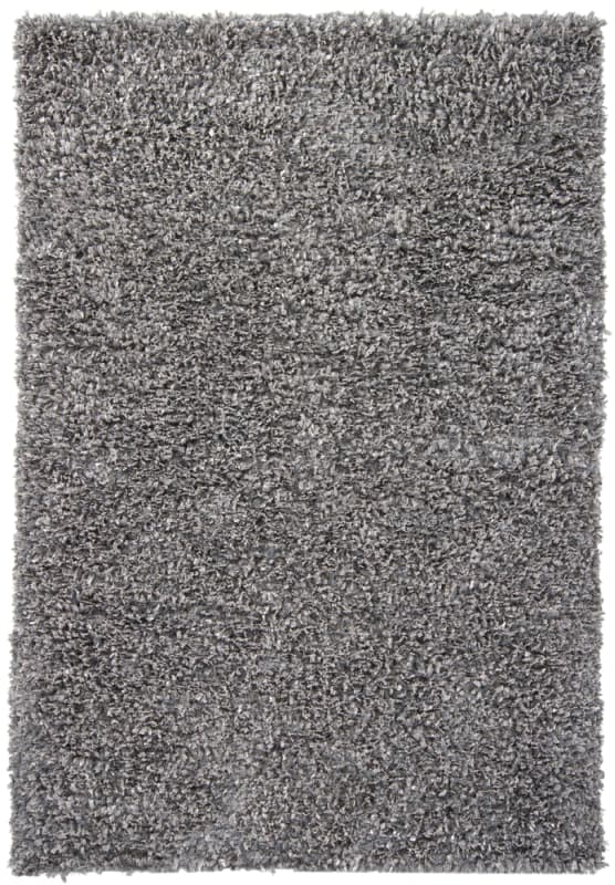 Chandra Rugs Ormet 19405 Grey Polyester Shag Area Rug Hand Woven in