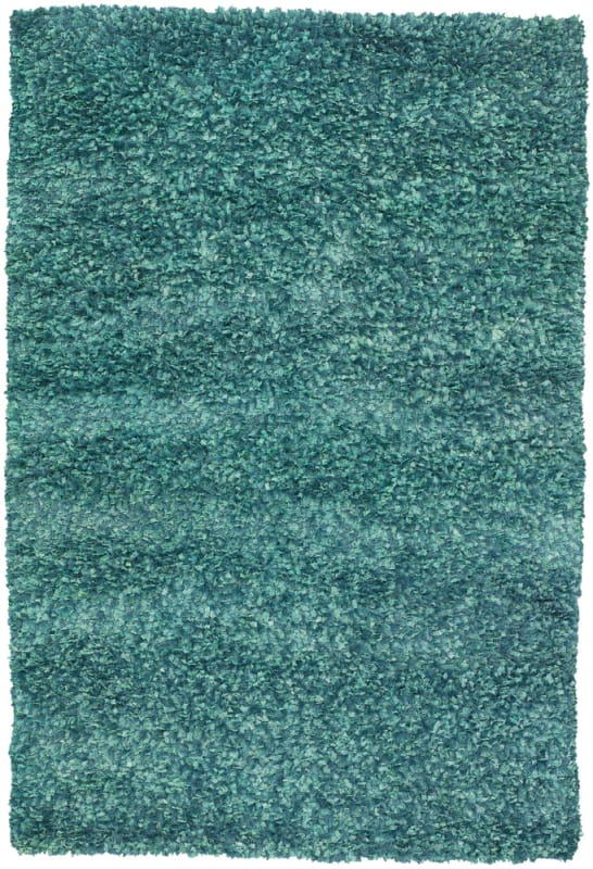Chandra Rugs Ormet 19406 Mint Green Polyester Shag Area Rug Hand Woven