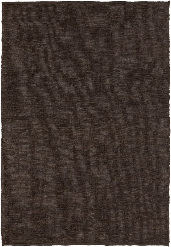Chandra Rugs Pricol 25405 Brown Jute Shag Area Rug Hand Woven in India