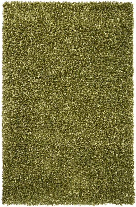 Chandra Rugs Riza 19503 Green Art Silk and Polyester Shag Area Rug