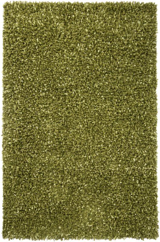 Chandra Rugs Riza 19503 Green Art Silk and Polyester Shag Area Rug