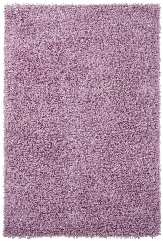 Chandra Rugs Riza 19505 Pink Art Silk and Polyester Shag Area Rug Hand