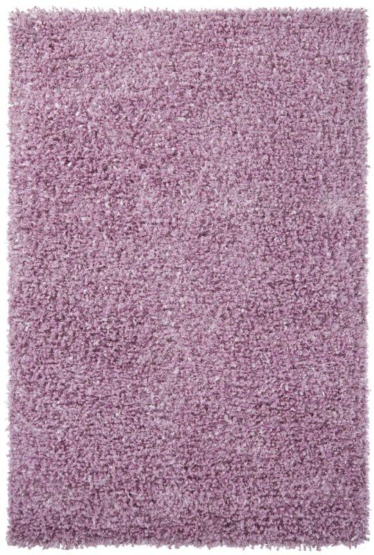 Chandra Rugs Riza 19505 Pink Art Silk and Polyester Shag Area Rug Hand