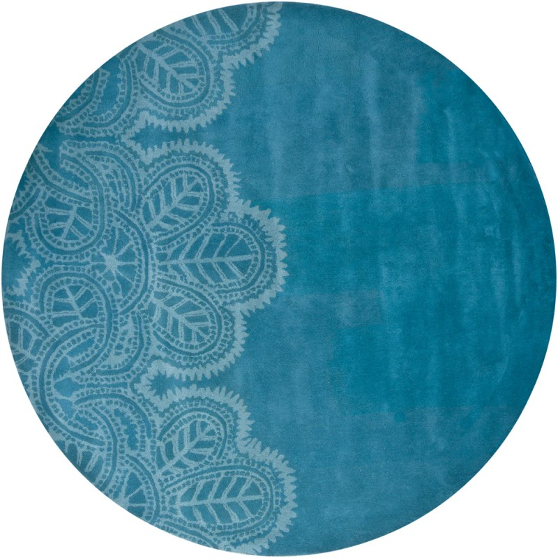 Chandra Rugs Taru 18701 Blue New Zealand Wool Shag Area Rug Hand