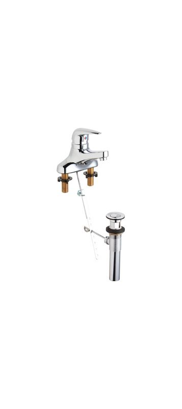 Chicago Faucets 420-POE2805ABCP Centerset Bathroom Sink Faucet -