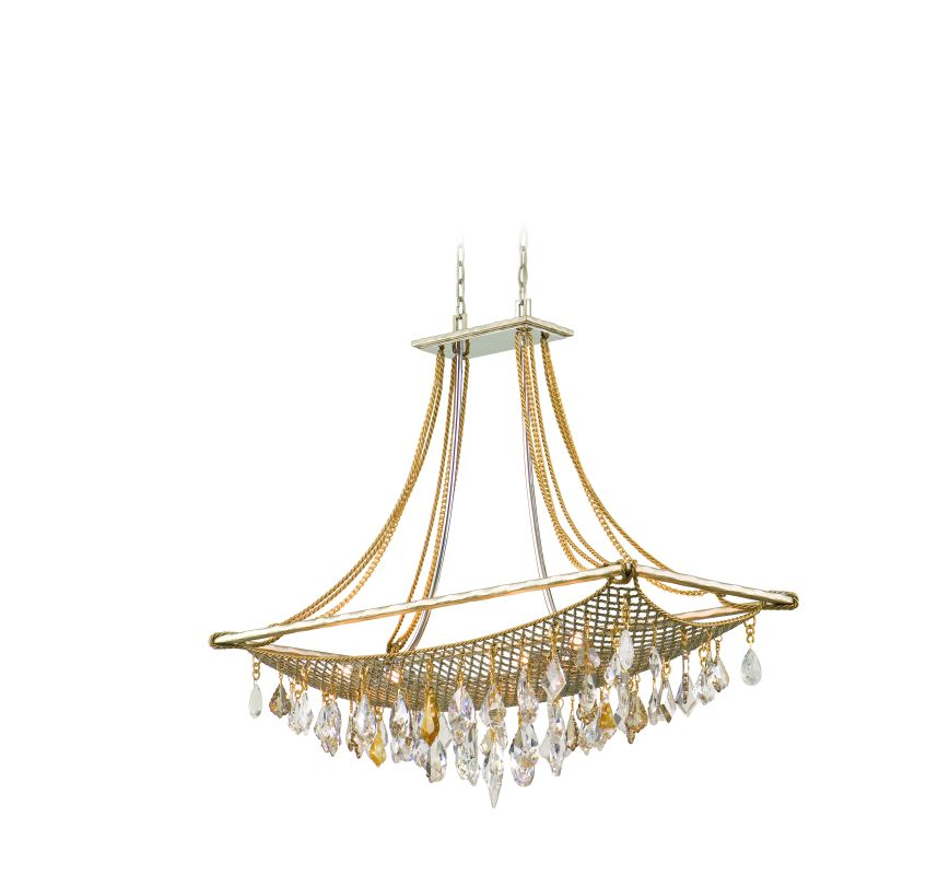 Corbett Lighting 125-58 Eight Light Large Island / Billiard Fixture Sale $3188.00 ITEM#: 1356793 MODEL# :125-58 UPC#: 782042750364 :