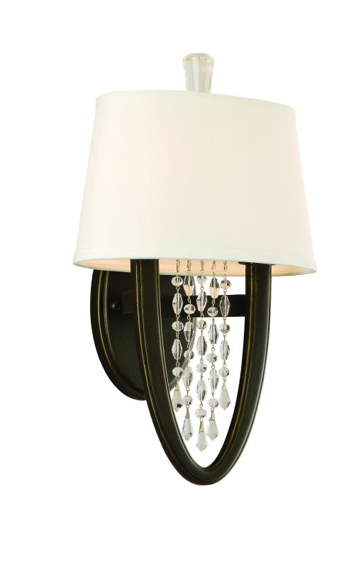 "Corbett Lighting 130-12 Viceroy 15.5"" Tall 2 Light Single Crystal"