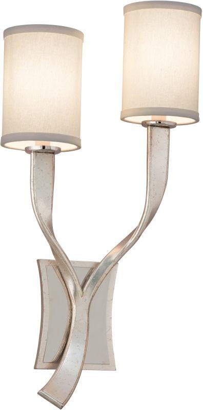 Corbett Lighting 158-11 Roxy 2 Light Wall Sconce Left Silver Leaf /