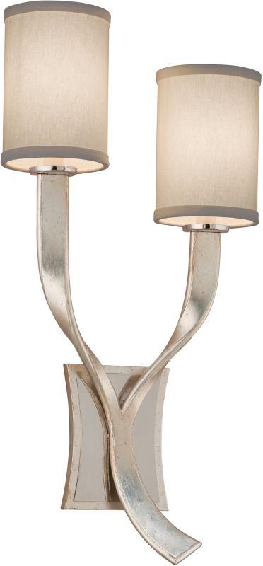 Corbett Lighting 158-12 Roxy 2 Light Wall Sconce Right Silver Leaf /