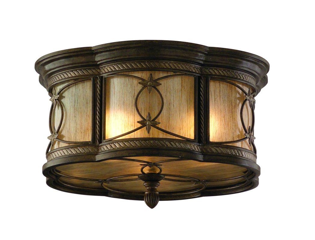 Corbett Lighting 67-33 Wrought Iron 3 Light Flushmount Ceiling Fixture