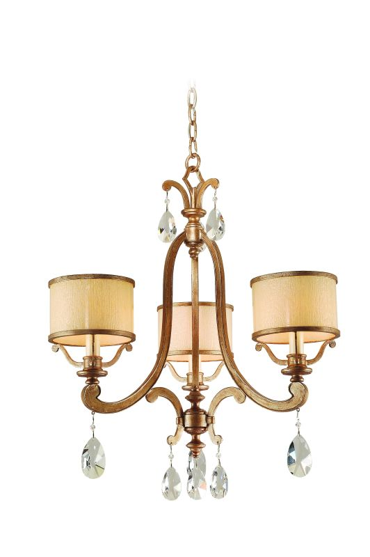 Corbett Lighting 71-03 3 Light Chandelier from the Roma Collection