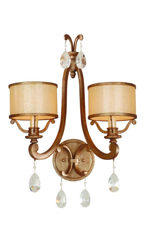 Corbett Lighting 71-12 2 Light Wall Sconce from the Roma Collection