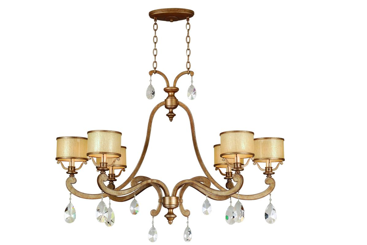 Corbett Lighting 71-56 6 Light Island / Billiard Fixture from the Roma