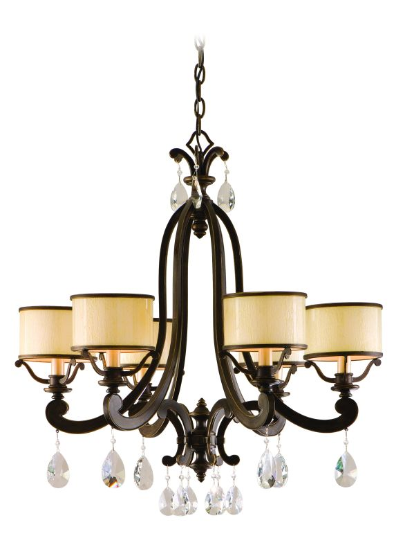 Corbett Lighting 86-06 Six Light Chandelier with Crystals from Roma