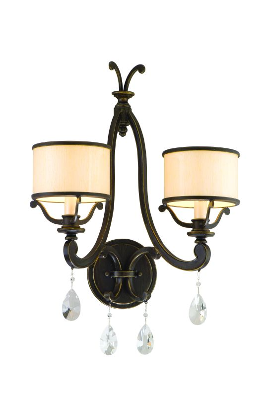 Corbett Lighting 86-12 Two Light Bathroom Fixture From The Roma