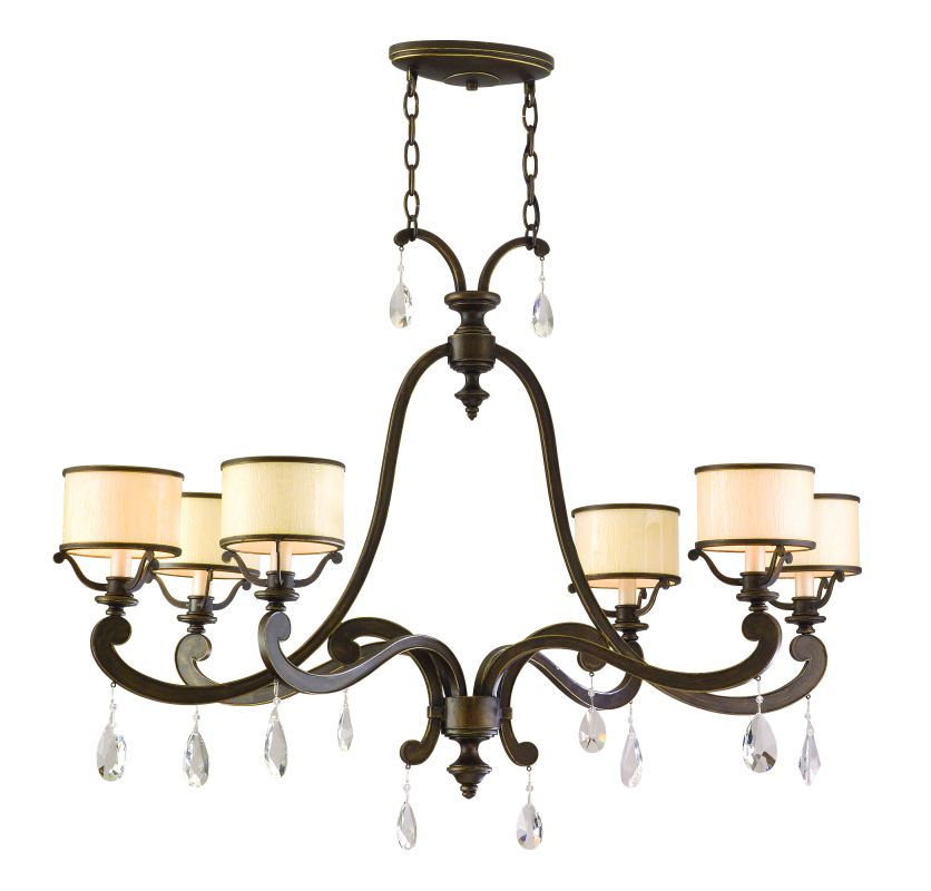 Corbett Lighting 86-56 Six Light Island / Billiard Fixture From The