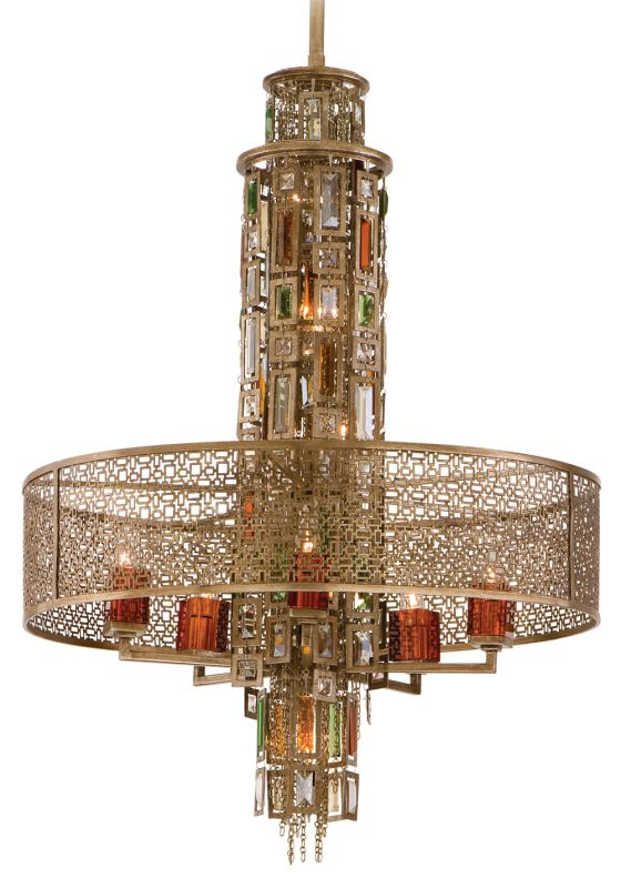 Corbett Lighting 123-410 Riviera 10 Light Pendant with Hand Crafted