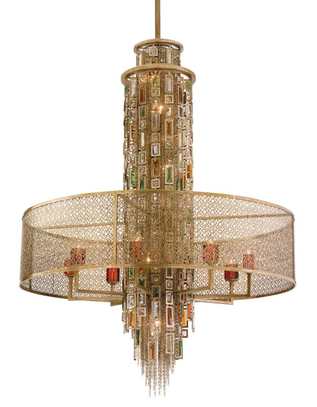 Corbett Lighting 123-716 Riviera 16 Light Pendant with Hand Crafted