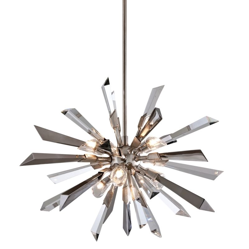 Corbett Lighting 140-46 Inertia 6 Light Modern Pendant with Hand