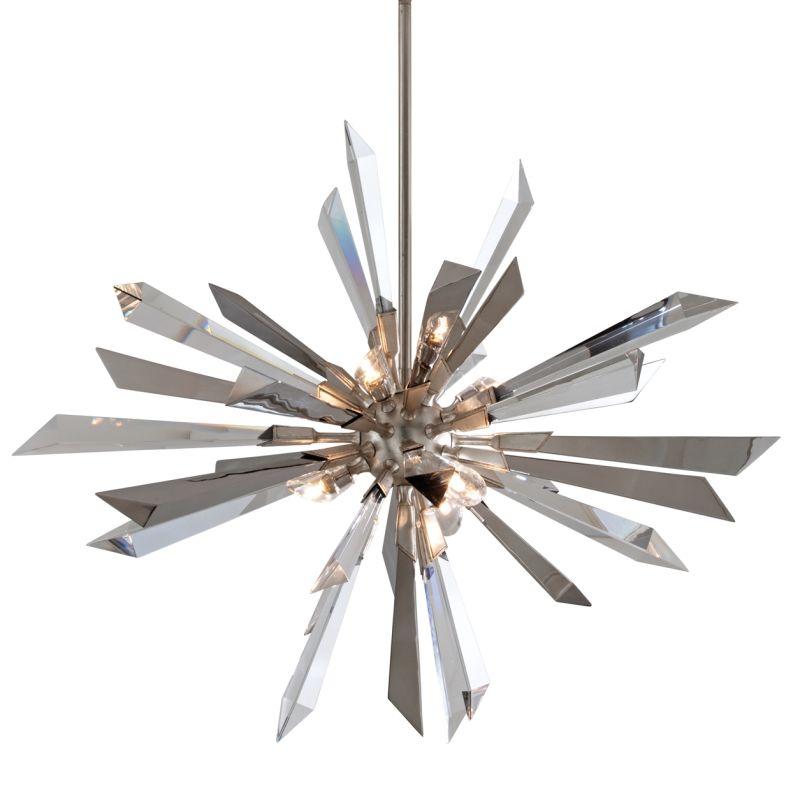 Corbett Lighting 140-47 Inertia 6 Light Modern Pendant with Hand