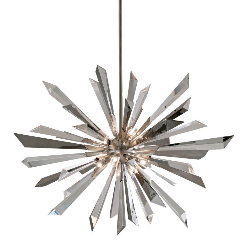 Corbett Lighting 140-48 Inertia 8 Light Modern Pendant with Hand