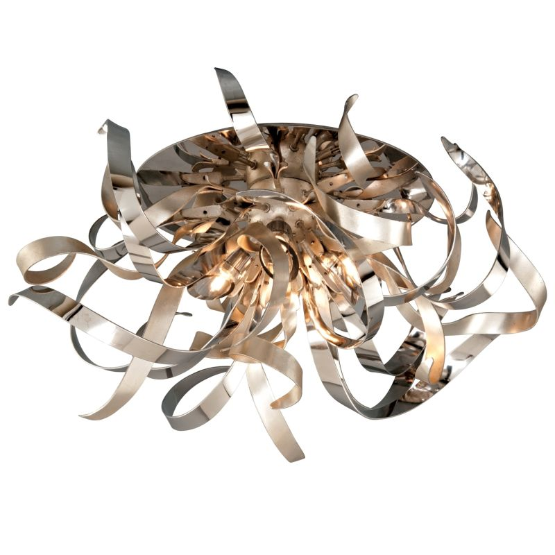 Corbett Lighting 154-34 Graffiti 4 Light Modern Flush Mount Ceiling