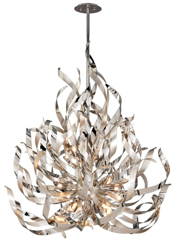 Corbett Lighting 154-412 Graffiti 12 Light Modern Pendant with Hand