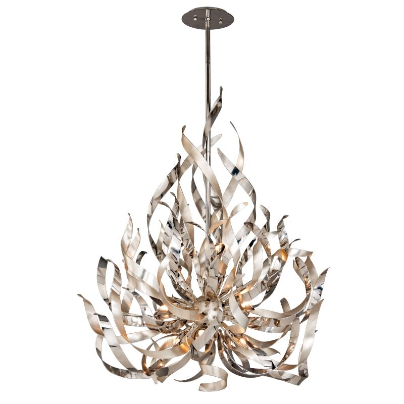 Corbett Lighting 154-49 Graffiti 9 Light Modern Pendant with Hand