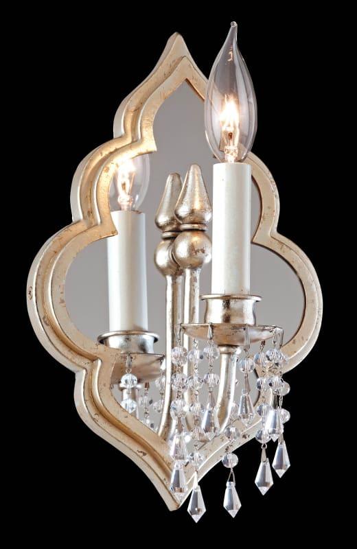 Corbett Lighting 161-11 Bijoux 1 Light Mirrored Wall Sconce Silver
