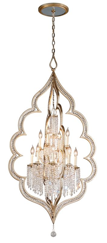 Corbett Lighting 161-412 Bijoux 12 Light Crystal Accent Foyer Pendant
