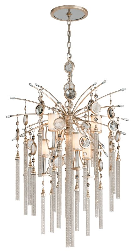 Corbett Lighting 162-47 Bliss 7 Light Pendant with Hand Crafted Iron