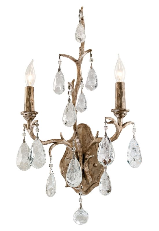 Corbett Lighting 163-12 Amadeus 2 Light Candle Style Wall Sconce with