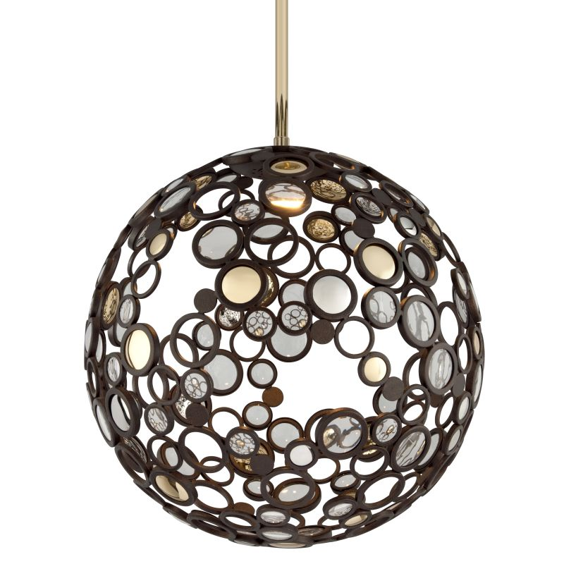 Corbett Lighting 188-43 Fathom 1 Light LED Pendant with Hand-Crafted