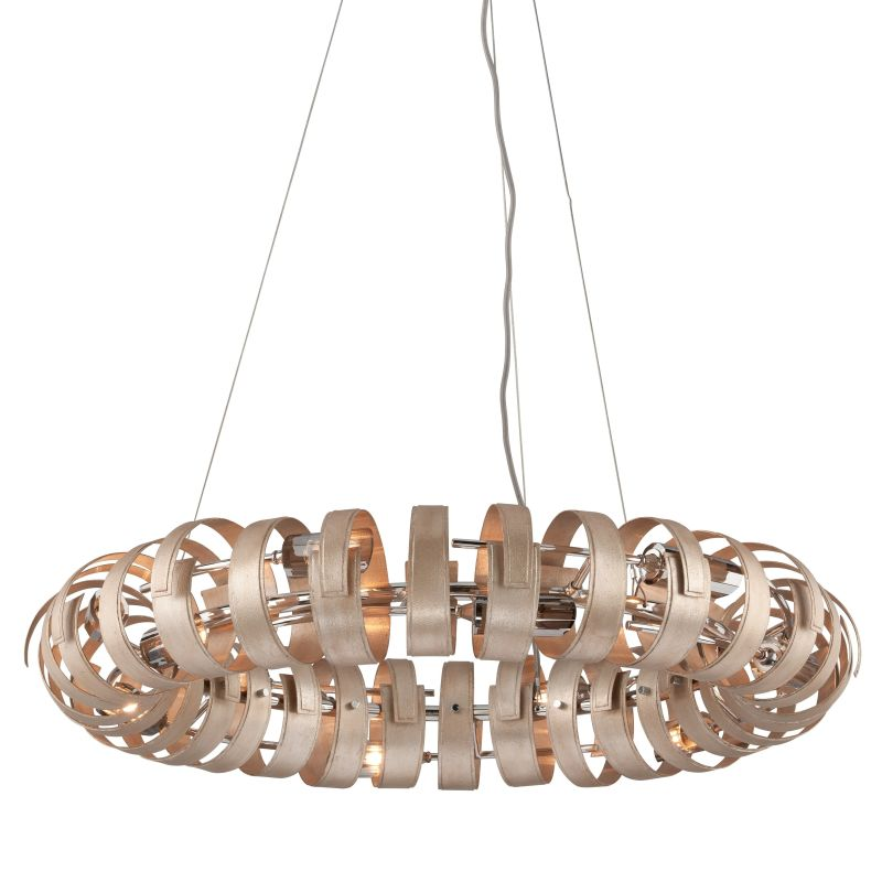 Corbett Lighting 191-412 Recoil 12 Light Pendant with Hand-Crafted