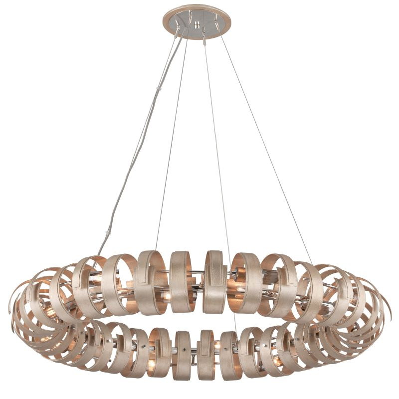 Corbett Lighting 191-415 Recoil 14 Light Pendant with Hand-Crafted